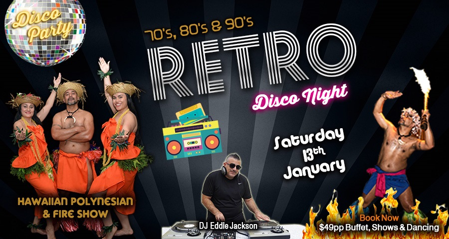 Retro Disco Night - Get down, groove and reminsce to the 80's & 70's disco hits