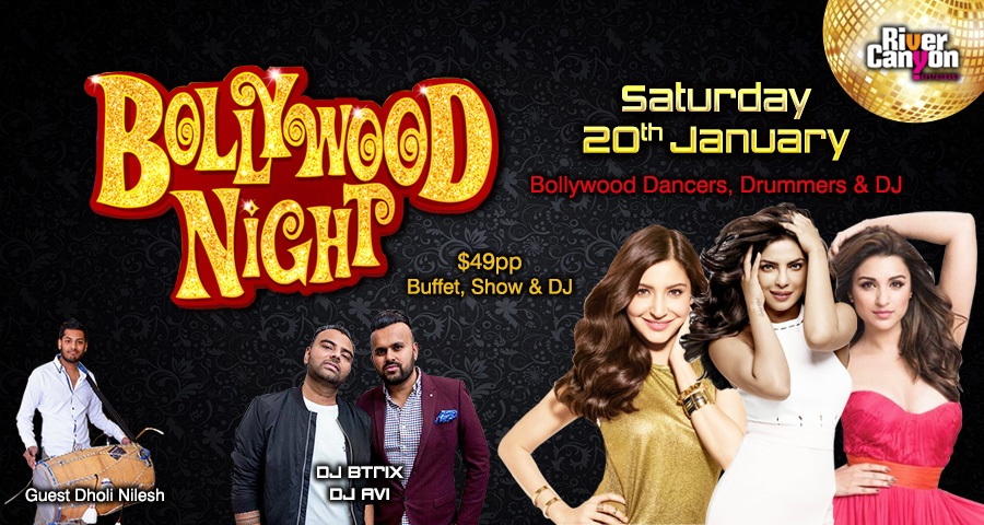 Bollywood Night Party Indian Buffet Food DJ Dance Party