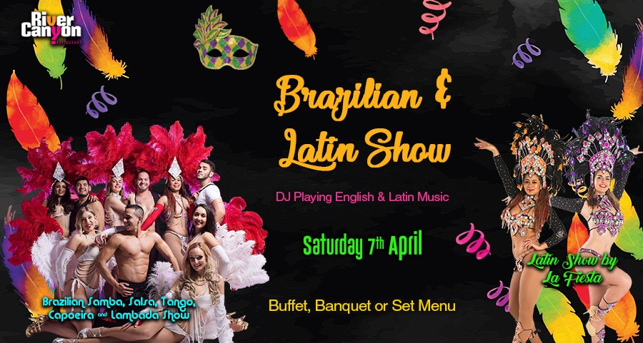 Brazilian & Latin Party Night Show with Dinner and Dancing