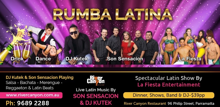 Salsa and Latin Night with dinner show Latin Music DJ