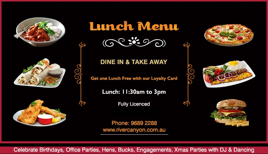 Cheap Office Lunch Menu