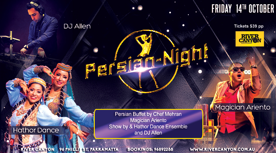 PERSIAN Night - Iranian & Belly Dance Shows, Live Band & DJ Ali